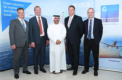 L to R -Terje Olsen & Finn Vetle Hansen from G Travel and Abdulla Tawakal, Sverre Gade Husby & Geoff Wood from dnata Travel