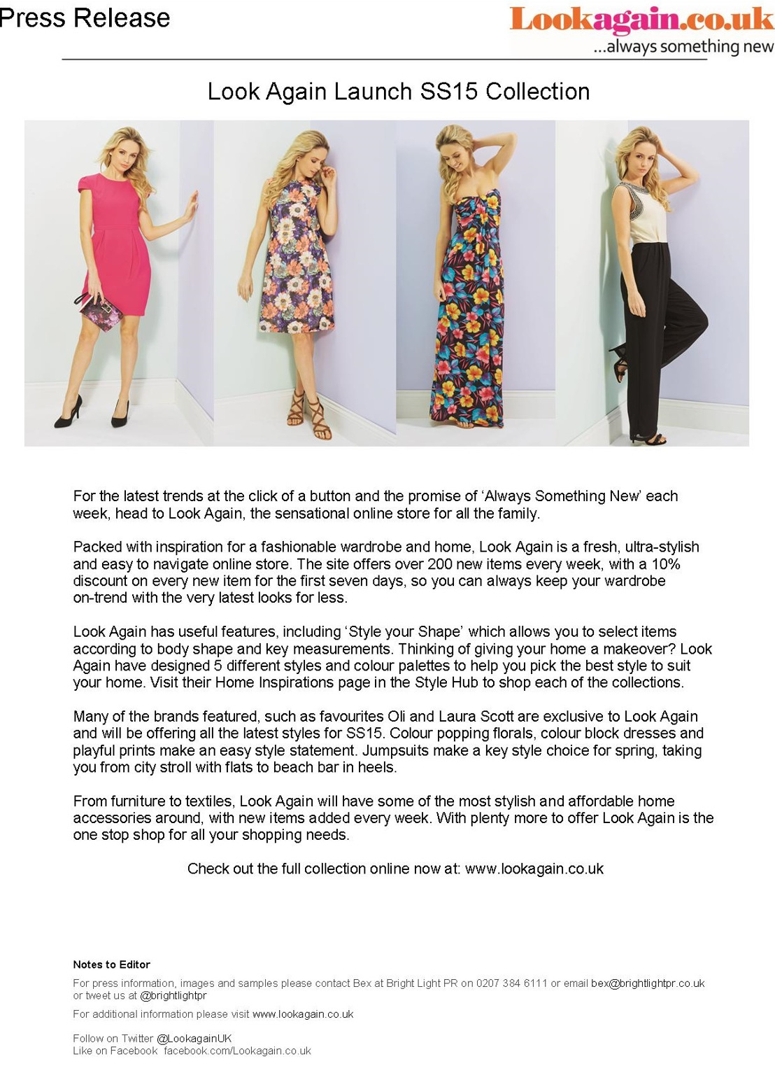 Look Again Launch Ss15 Collection Newlook Playful