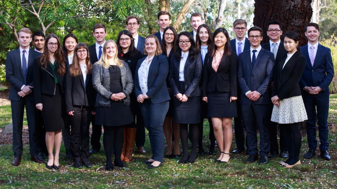 Team Australia in the Intercollegiate Negotiation Competition.  Image: ANU