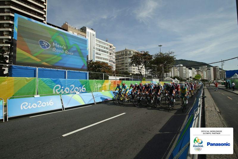 Panasonic @ JJOO Rio 2016 Pantallas LED en Ruta Ciclista