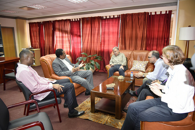 UN Secretary-General António Guterres meets with Prime Minister of Dominica Hon. Roosevelt Skerrit and President Charles Savarin.