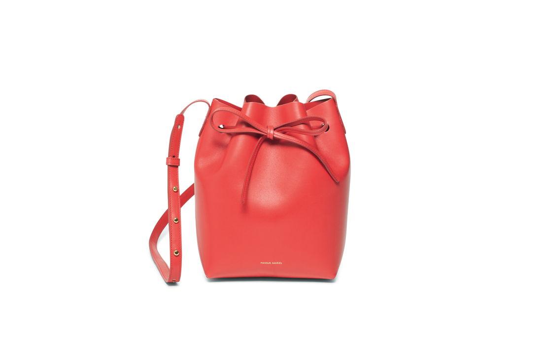 Mansur Gavriel Mini Bucket Red 515 euro at Graanmarkt 13