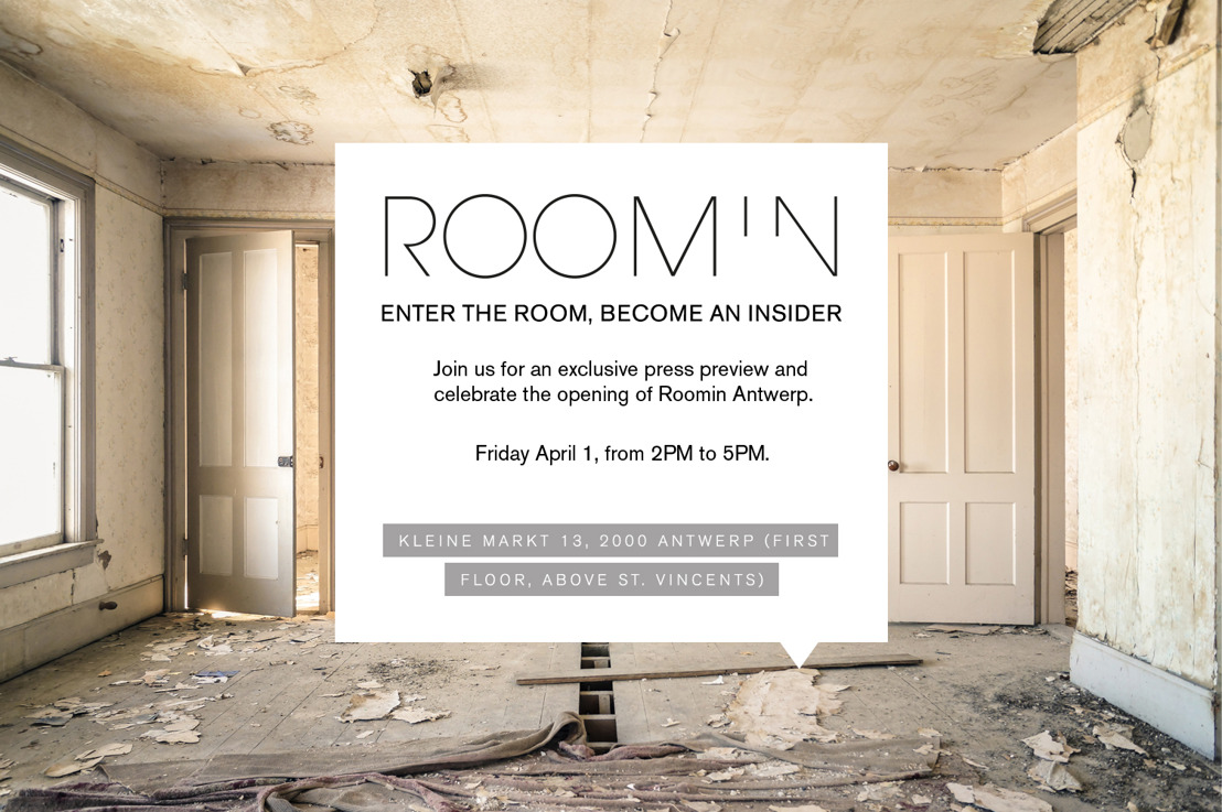 INVITE I Roomin Antwerp I Press Preview 01.04