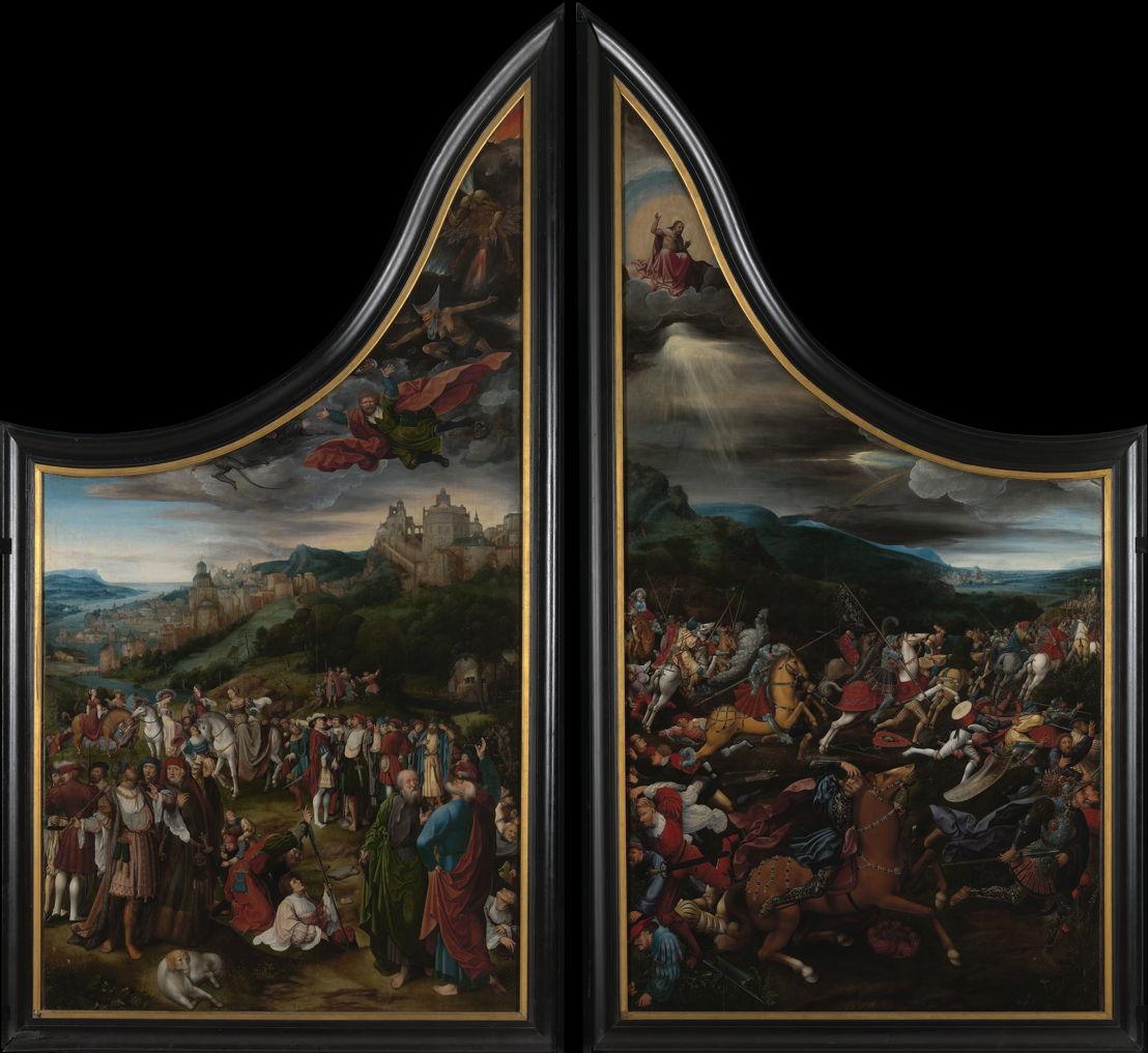De val van Simon de Magiër & De bekering van Paulus, Jan Rombouts, c. 1522 © Lukas - Art in Flanders, foto Dominique Provost