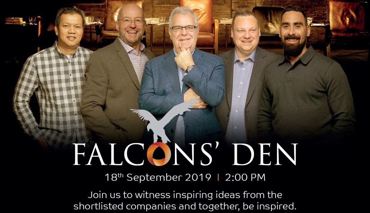 Falcons' Den will run on 18th September 2019 from 2pm at FM EXPO 2019, DWTC