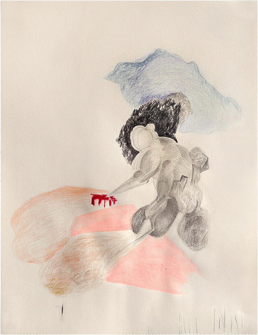 DuflonRacz Gallery_Bettina Carl, Homme de Terre, 2014, mixed media on paper, 36 cm x 27 cm