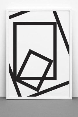 One must dash Poster Square lines 58€
