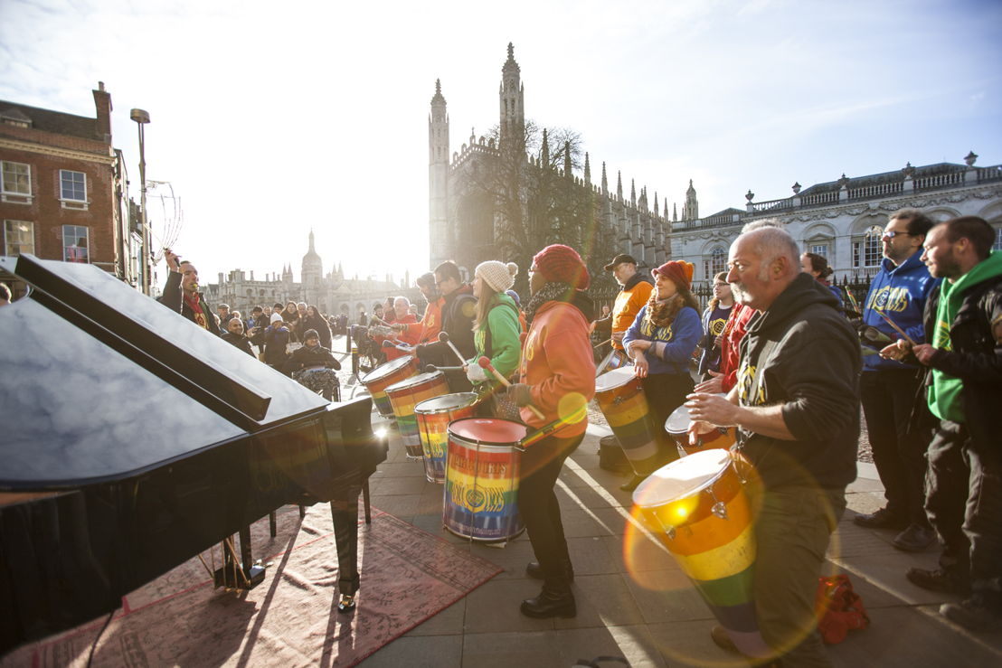We put an Edelweiss self-playing piano outside King's College, Cambridge and this is what happened.