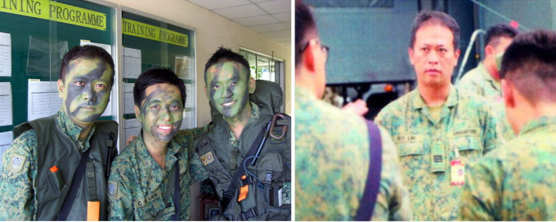 Roy Lim and his comrades in the Singapore Armed Forces (SAF).