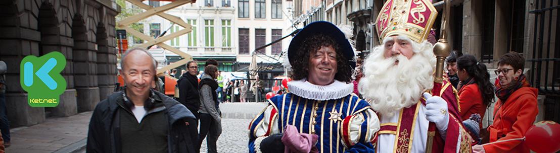 Sinterklaas was vandaag in Antwerpen voor filmopnames