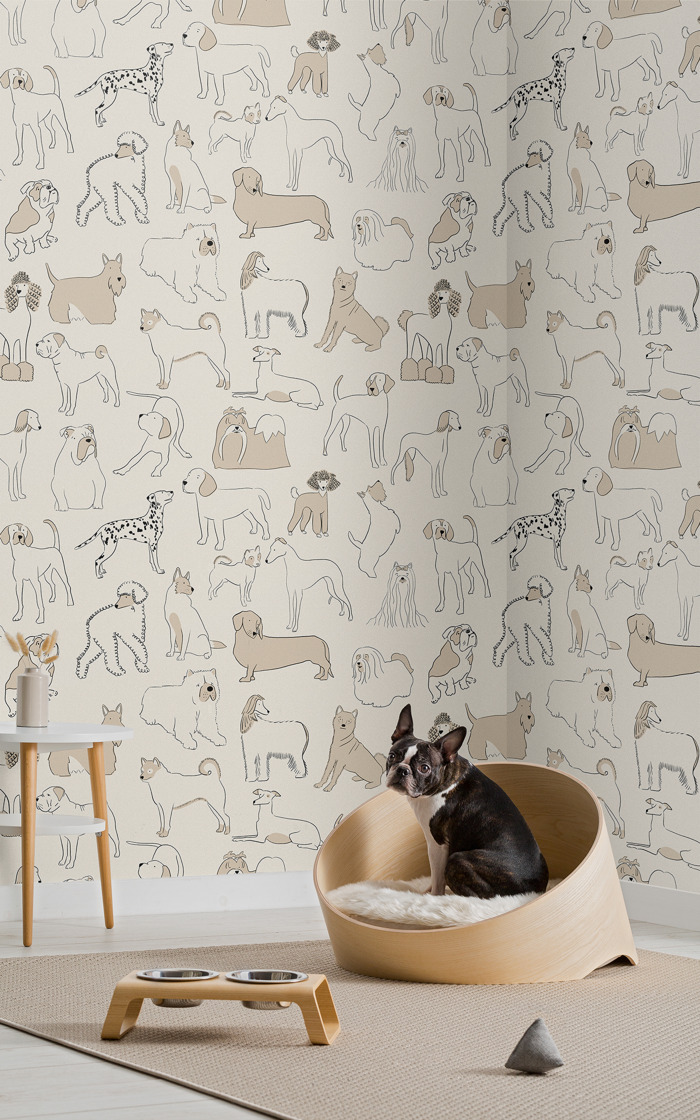 Wallpapers that take pet decor to the next level