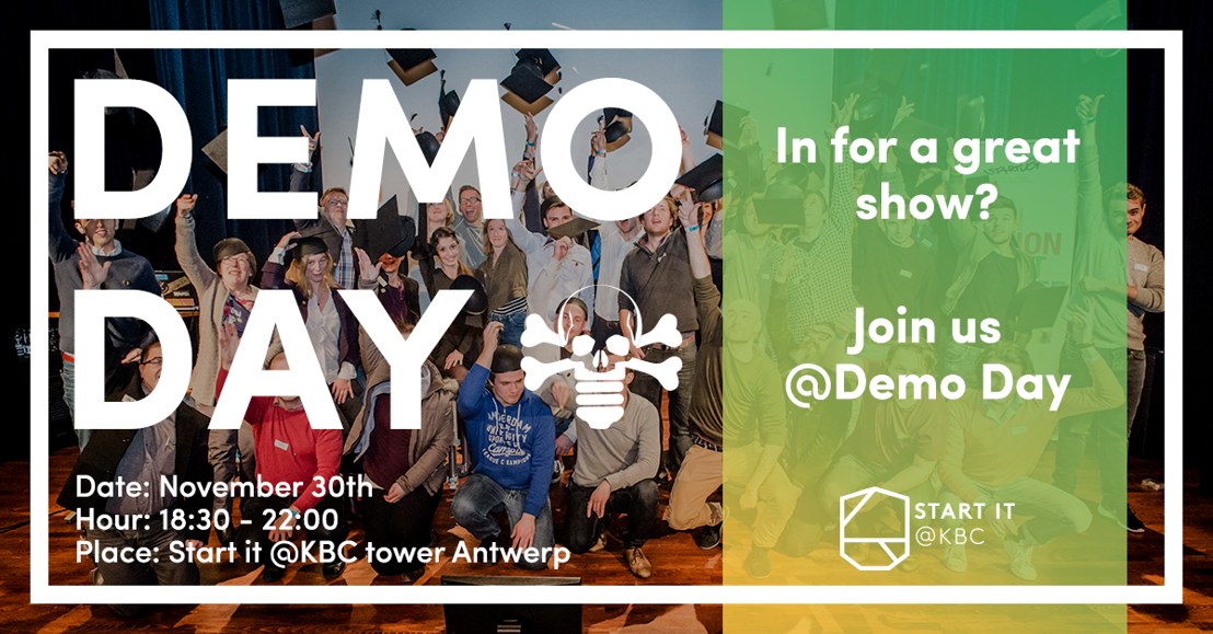 PERSUITNODIGING Demo Day: 14 pitches, 2 awards!