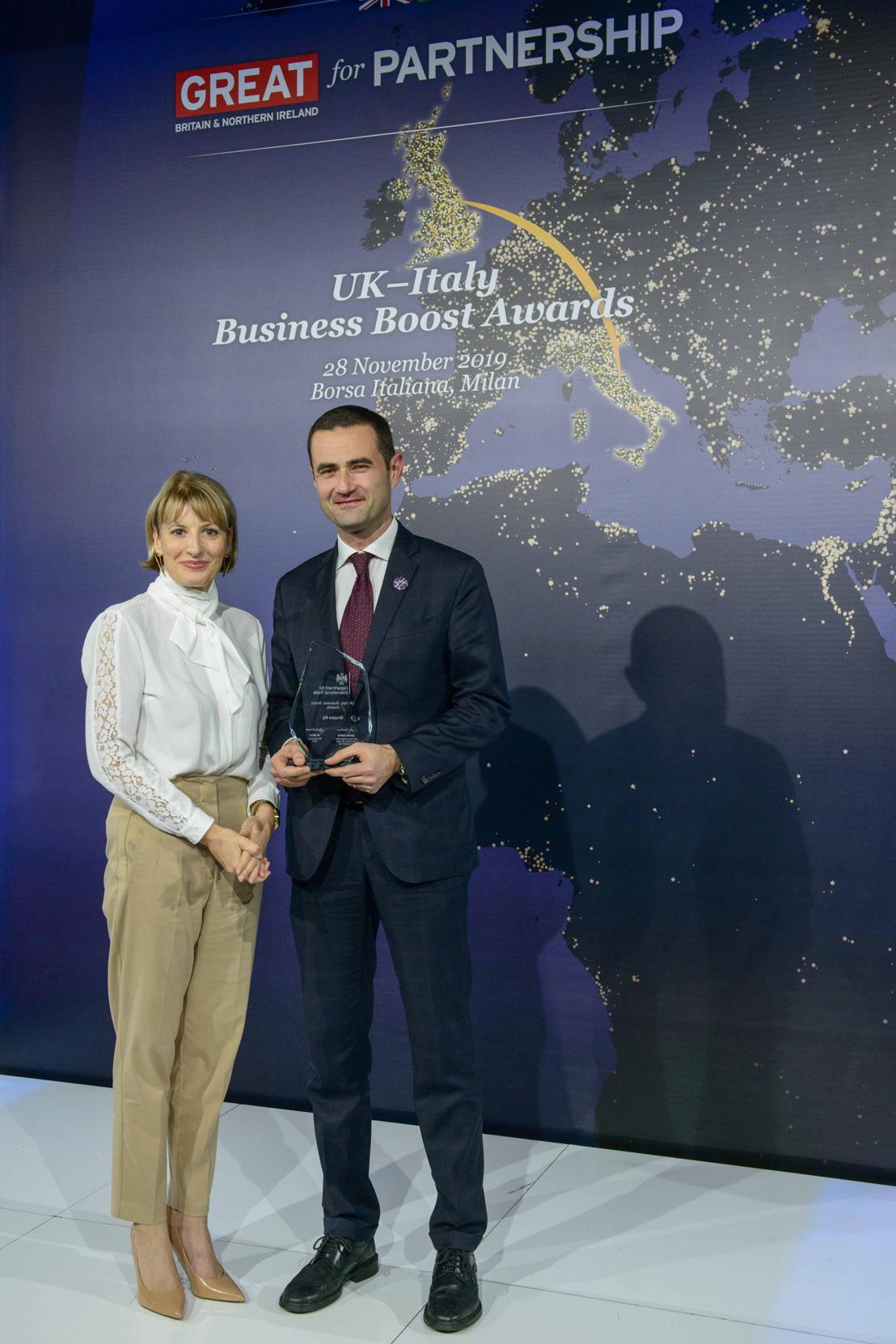 Al Gruppo illy il premio UK-Italy Business Boost Award