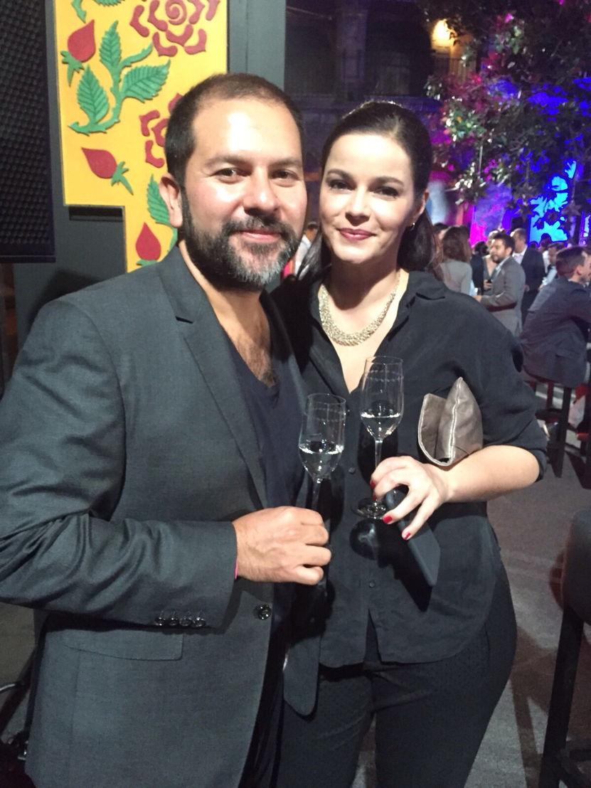 Enrique Olvera y su esposa Alegra
