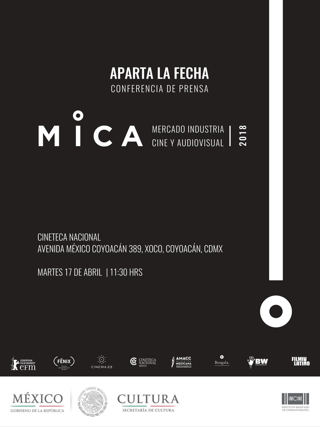 SAVE THE DATE. CONFERENCIA MICA (MERCADO E INDUSTRIA DEL CINE Y EL AUDIOVISUAL) 2018