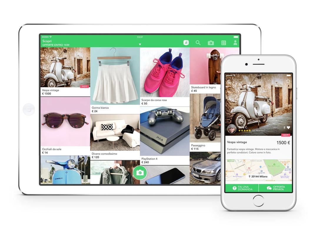 La nuova app di tendenza per comprare e vendere