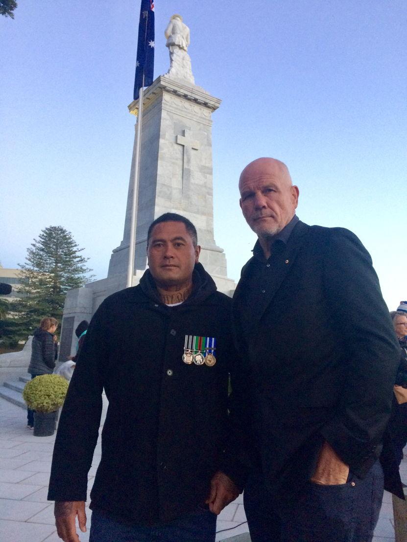 Peter FitzSimons with deportee Ko Haapu
