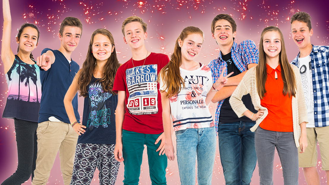 Junior Musical : Lani Lauwers / Aaron Blommaert / Hanne Verstraeten / Jérémie Vrielynck / Oona Abbeel / Sheldon Demiddeleer / Emma Van Abbenyen / Daan Keisse - (c) VRT - Frederik Beyens