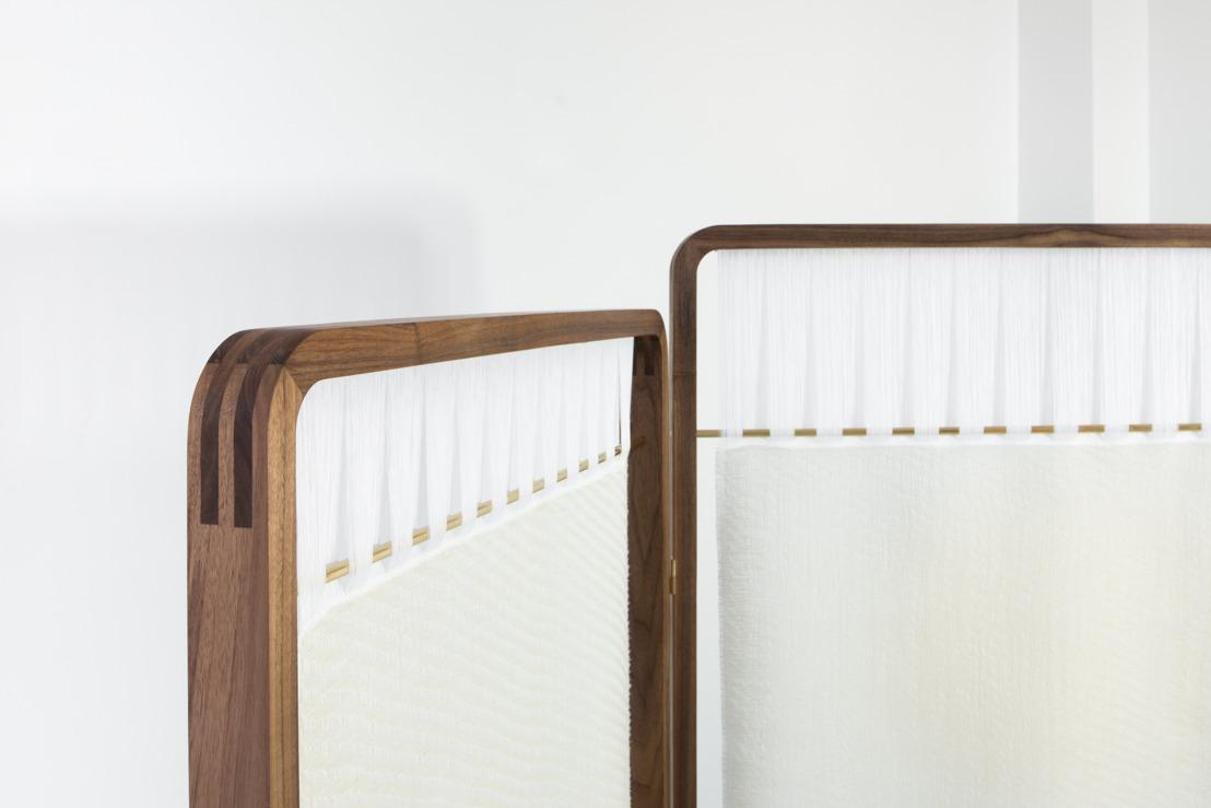 Nathalie Van der Massen and Charlotte Vlerick design limited edition paravent AKI