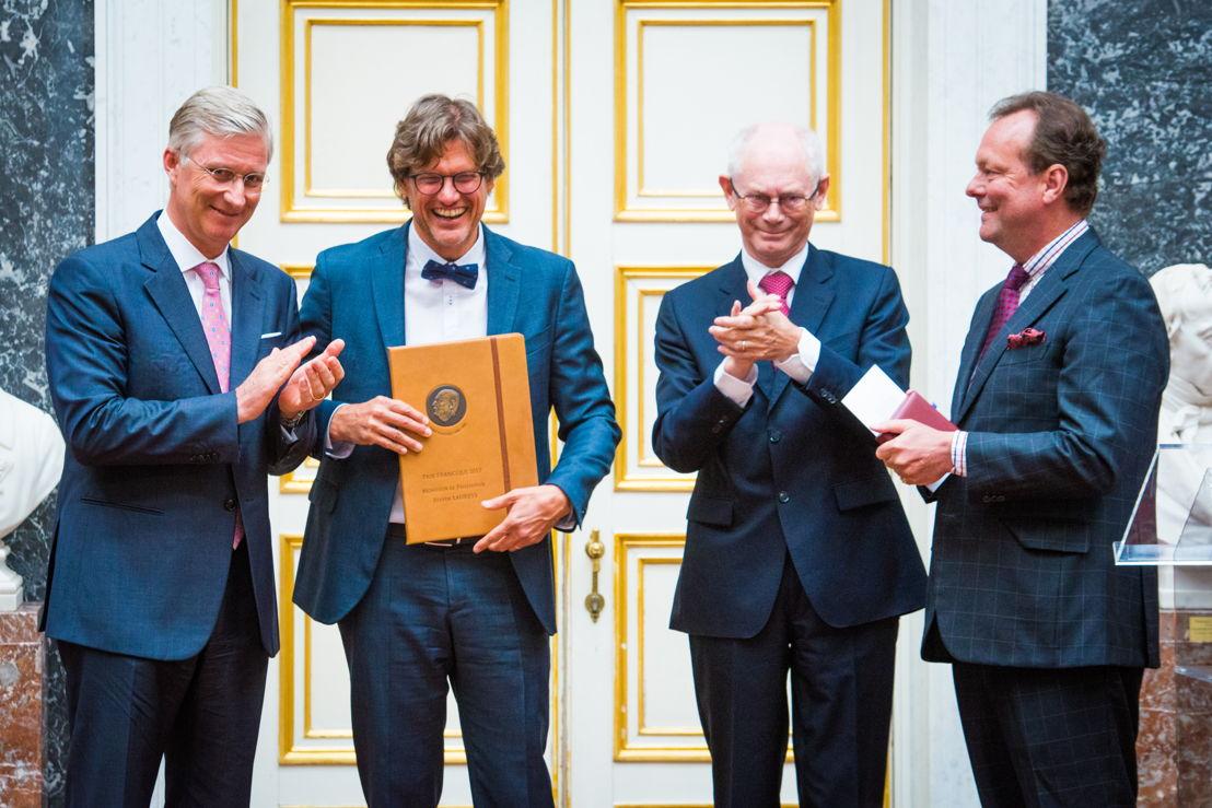 Sa Majesté le Roi, Herman Van Rompuy, Steven Laureys, le Comte Frédéric Francqui ©Dann