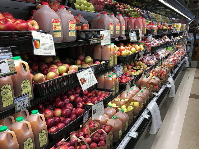 Cider and apples from within 100-miles of the Co-op lasts well beyond the autumn harvest
