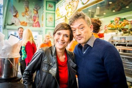 Madam Anja Daems zij aan zij met Bart Peeters<br/>(c) VRT