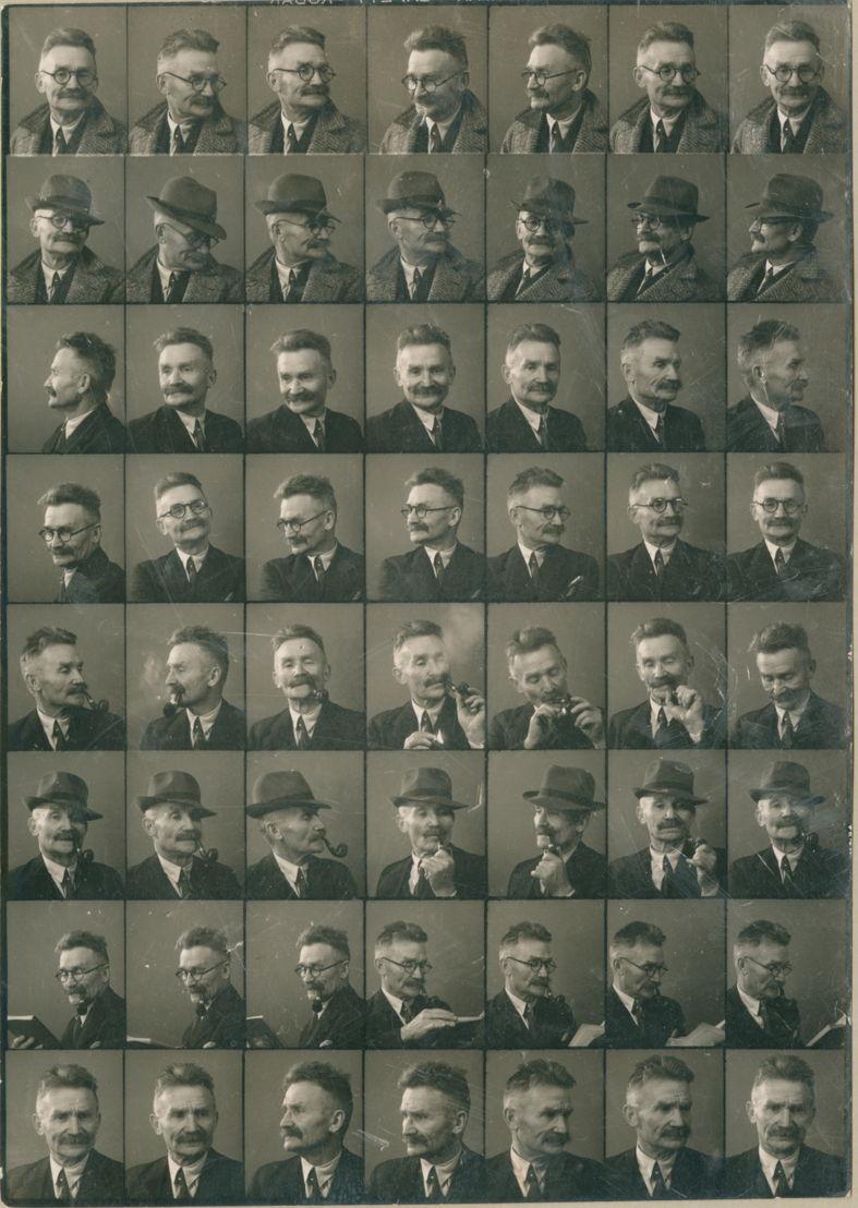 Fotomozaïek met portretten van Stijn Streuvels