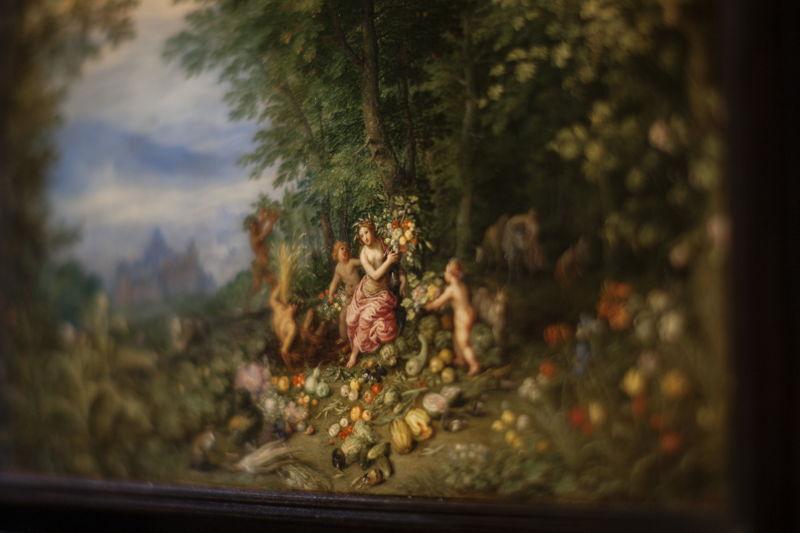 Jan Brueghel I, Allegorie van de aarde en van het vuur, particuliere verzameling Frankrijk, foto Ans Brys (2)