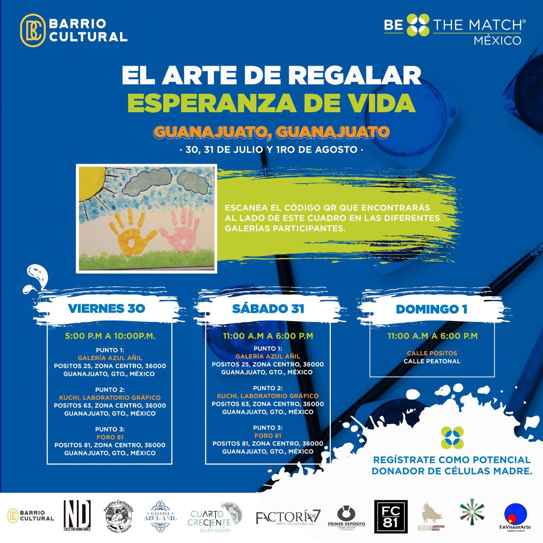 El arte de regalar esperanza de vida: En Guanajuato Be The Match México busca registrar posibles donadores de células madre.
