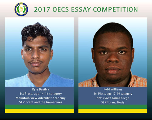 St Vincent and the Grenadines and St Kitts and Nevis Capture Top Positions in 2017 OECS Essay Competition