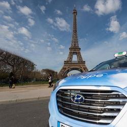 Hyundai Motor franchit un pas de plus avec la flotte de taxis à pile à combustible de Paris