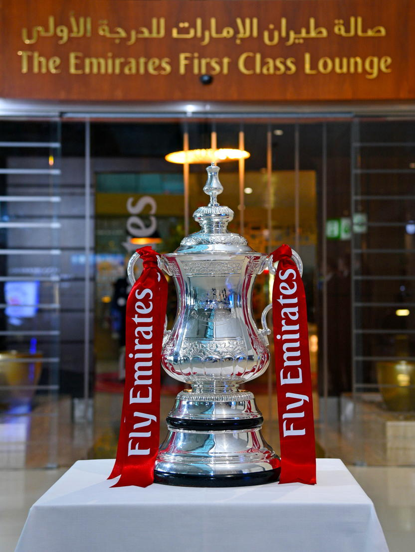 The Emirates FA Cup in Dubai at the Emirates First Class Lounge