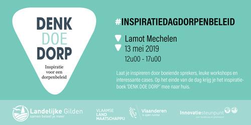 Lancering inspiratieboek 'DENK DOE DORP' op 13 mei