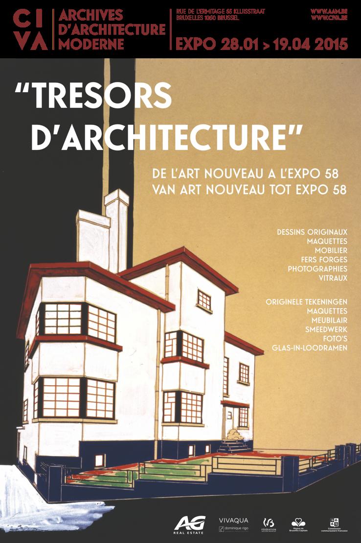 """Affiche de l'exposition """"Trésors d'architecture"""""""