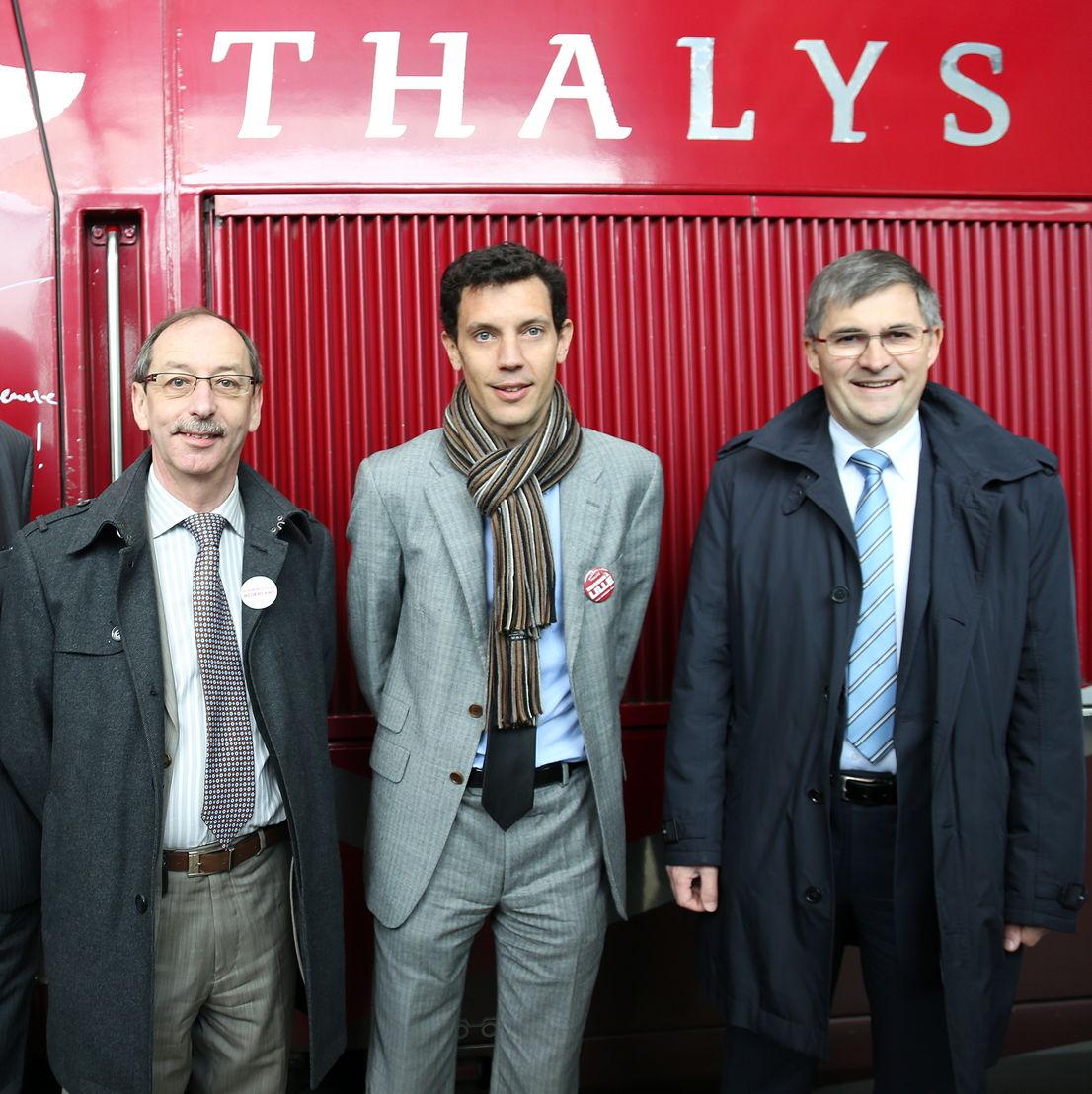 Michel Jadot, Franck Gervais et Jacky Lion