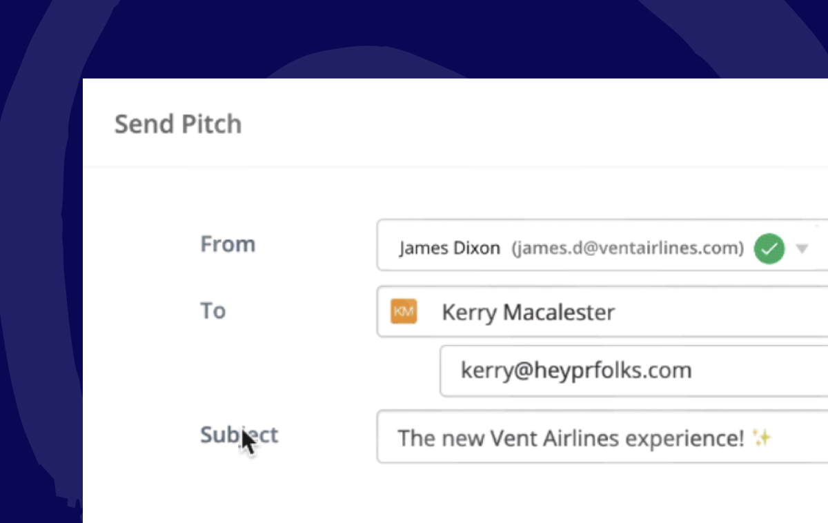 Create & send Pitches