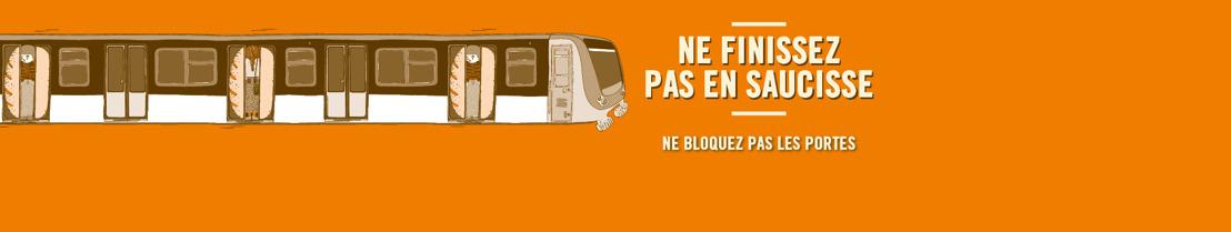 La STIB rappelle avec humour le danger de bloquer les portes du métro