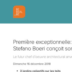 Première exceptionnelle: le célèbre architecte Stefano Boeri conçoit son premier bâtiment belge
