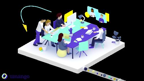 Umango, het nieuwe platform dat collega's verbindt en remote teamwork stimuleert