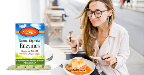 Carlson Introduces Natural Digestive Enzymes Grab + Go Packs