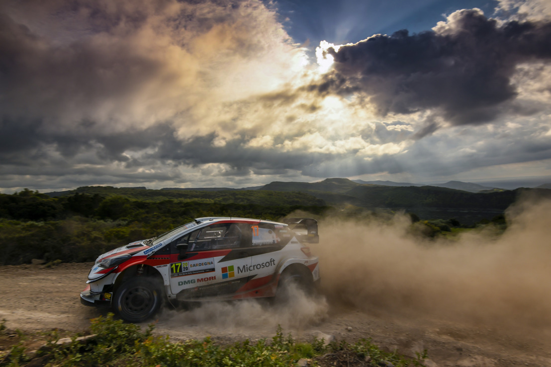 WRC Rally Italia Sardegna - Ogier on the podium, Evans remains championship leader for TOYOTA GAZOO Racing