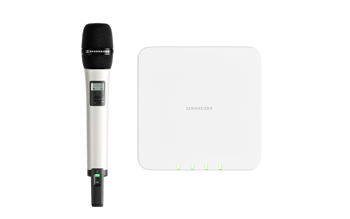 The new multi-channel microphone receiver for Sennheiser's SpeechLine Digital Wireless series is a perfect match for modern IT infrastructures. It ensures easy integration, uses license-free 1.9 GHz technology and can be centrally software controlled through Sennheiser Control Cockpit