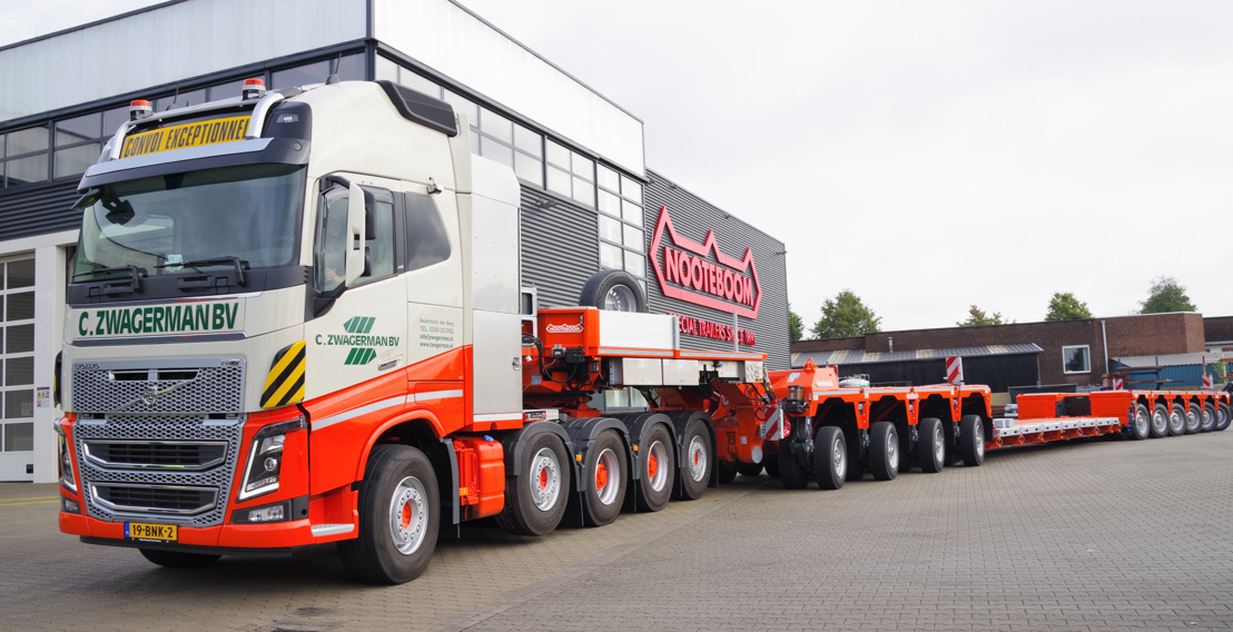 Latest and largest Nooteboom 4+6 low-loader provides a load capacity of more than 100 tonnes in Germany