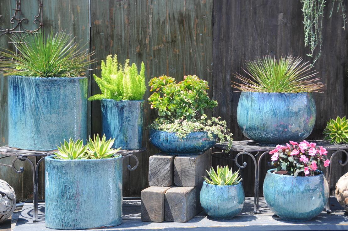 Glazed pottery (photo credit Pike Nurseries)