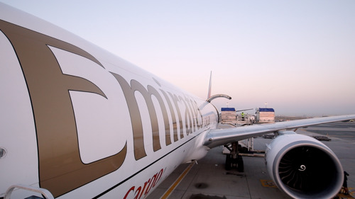 Emirates SkyCargo flies champion of the race that stops a nation