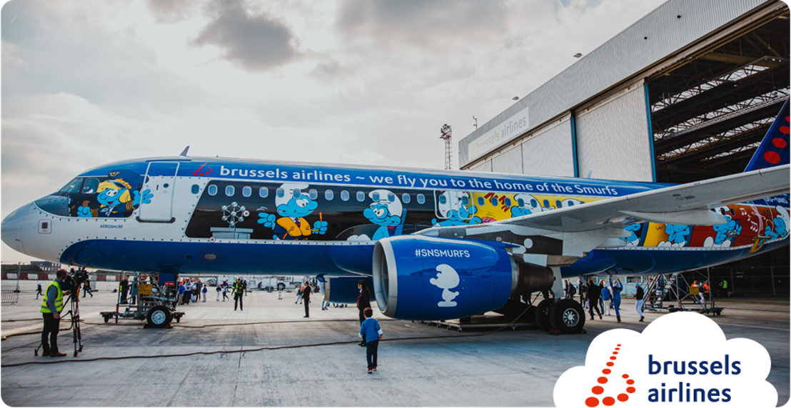 Brussels Airlines onthult Aerosmurf