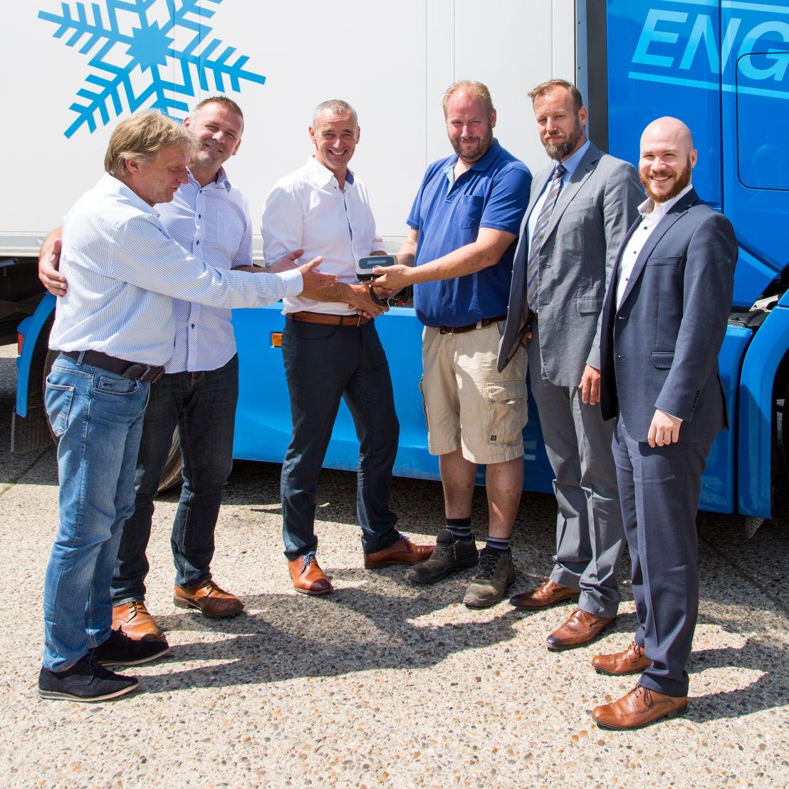 Van links naar rechts: Jesus Boeckx, Diederik Brutsaert, Hans Cousserier, Michel Engelbosch, Koen Van Ballaert en Yannic Hönle.