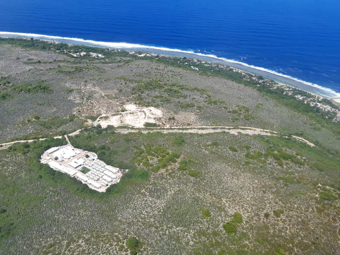 An aerial view of the island of Nauru, 5 October 2018. Credit MSF