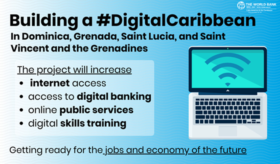 First-Time Financing by World Bank for Digital Economy in the Eastern Caribbean Approved for US$94 Million