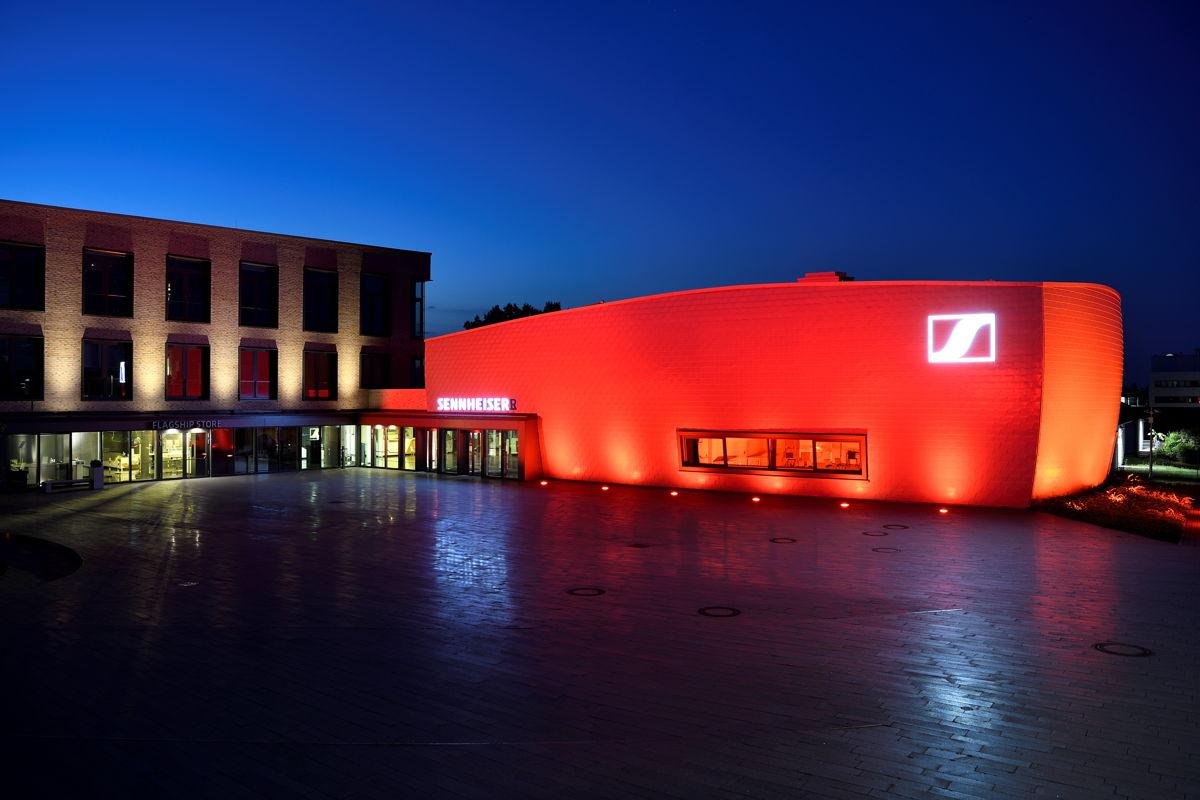 "Siège social de Sennheiser lors l'événement ""Night of Light"""